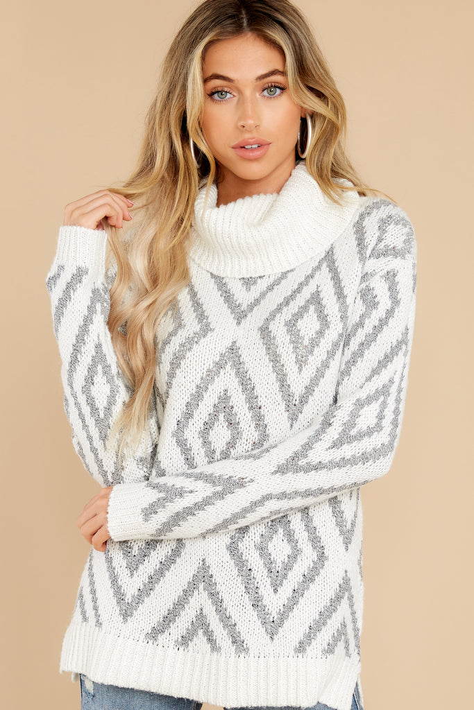 1 Say Anything Cream Turtleneck Sweater at reddress.com