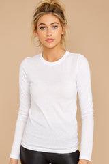 2 The White Triblend Long Sleeve Crew Tee at reddress.com
