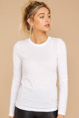 3 The White Triblend Long Sleeve Crew Tee at reddress.com