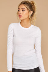 6 The White Triblend Long Sleeve Crew Tee at reddress.com