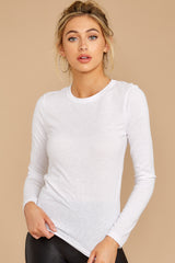 1 The White Triblend Long Sleeve Crew Tee at reddress.com