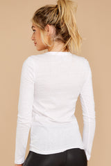 7 The White Triblend Long Sleeve Crew Tee at reddress.com
