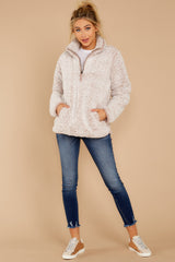 1 Seven Wonders Frosted Pale Mauve Pullover at reddressboutique.com