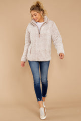 2 Seven Wonders Frosted Pale Mauve Pullover at reddressboutique.com
