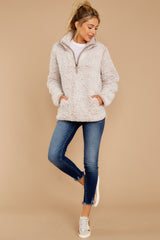 3 Seven Wonders Frosted Pale Mauve Pullover at reddressboutique.com
