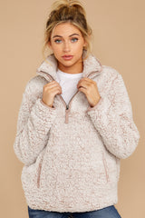 6 Seven Wonders Frosted Pale Mauve Pullover at reddressboutique.com