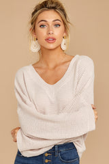 6 Daytime Debut Beige Waffle Knit Top at reddressboutique.com