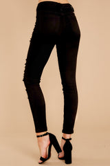 3 Told You Black Distressed Skinny Jeans at reddressboutique.com