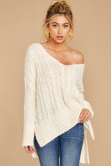 4 Me Myself And I Cream Sweater at reddressboutique.com