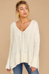 6 Me Myself And I Cream Sweater at reddressboutique.com