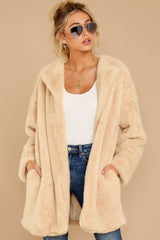 5 Just What You Think Beige Faux Fur Coat at reddressboutique.com