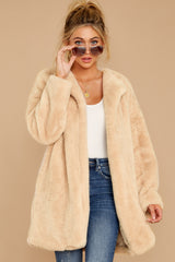 7 Just What You Think Beige Faux Fur Coat at reddressboutique.com