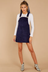 1 Collegiate Cutie Navy Corduroy Jumper at reddressboutique.com