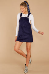 2 Collegiate Cutie Navy Corduroy Jumper at reddressboutique.com