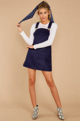 3 Collegiate Cutie Navy Corduroy Jumper at reddressboutique.com