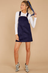 4 Collegiate Cutie Navy Corduroy Jumper at reddressboutique.com