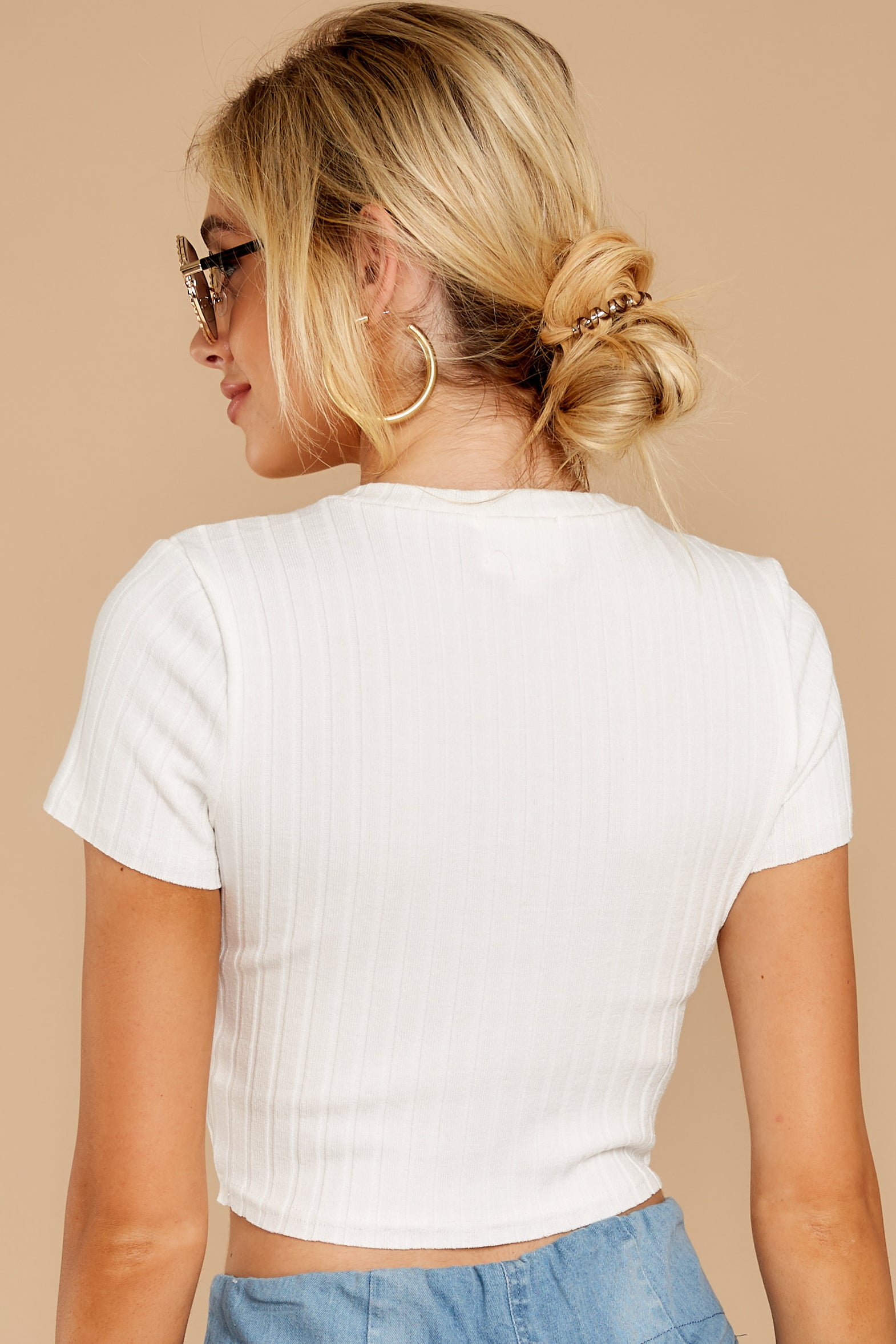 The Way To L.A. White Crop Top