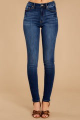 2 Something Real Dark Wash Skinny Jeans at reddress.com