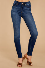 1 Something Real Dark Wash Skinny Jeans at reddressboutique.com