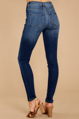 3 Something Real Dark Wash Skinny Jeans at reddress.com