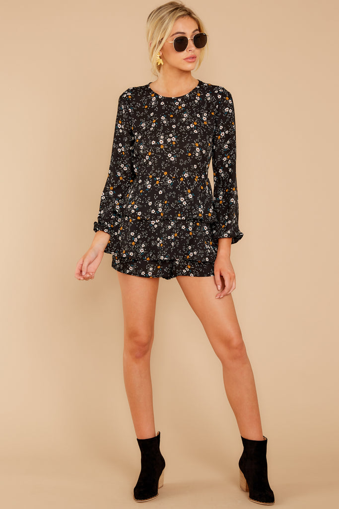 1 Language Of Style Black Lace Romper at reddressboutique.com