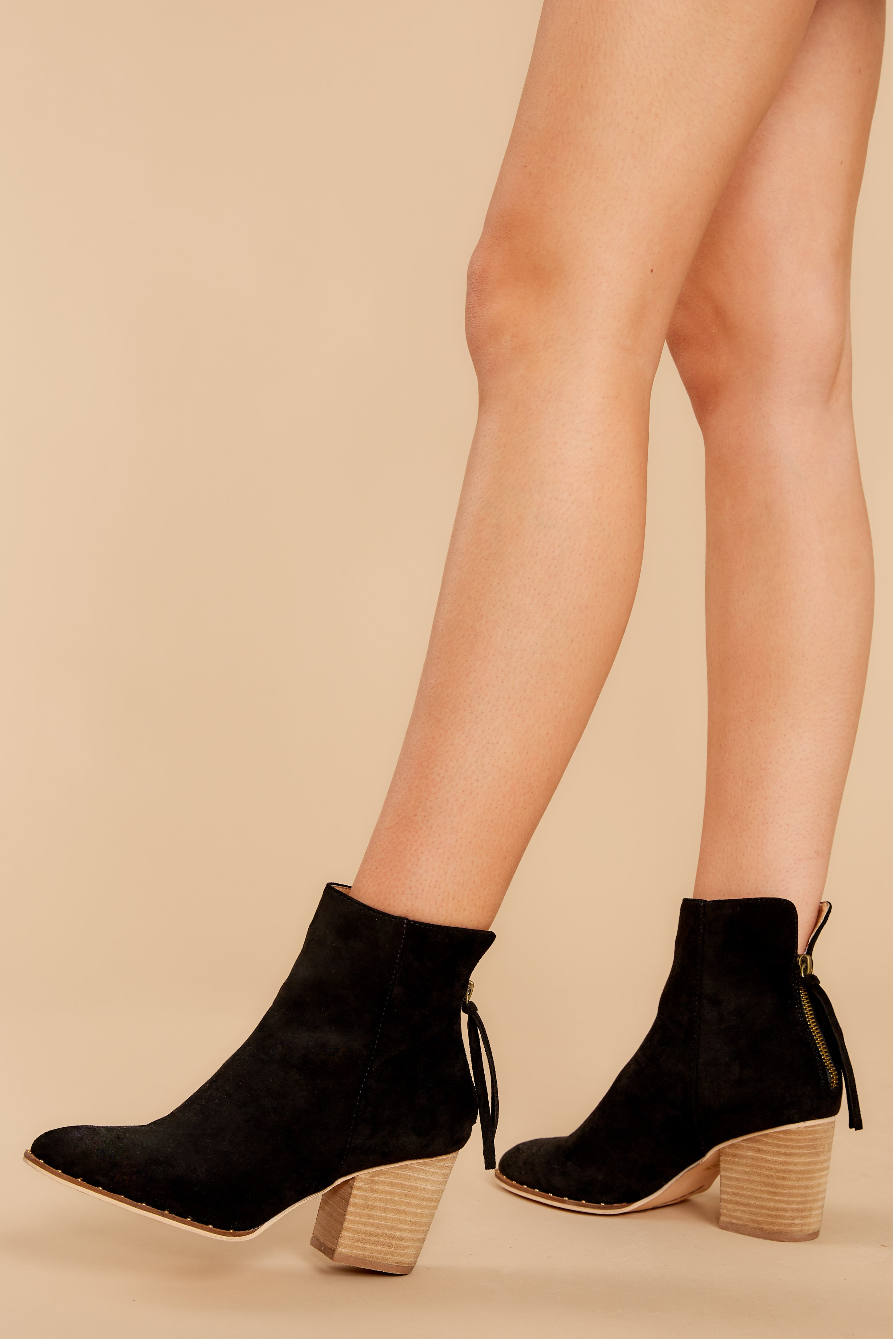 1 Taking These With Me Black Ankle Booties at reddress.com