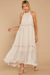 3 Inspire Chic Sand Maxi Dress at reddressboutique.com