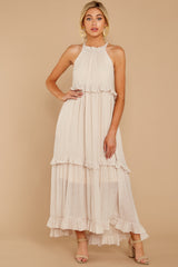 5 Inspire Chic Sand Maxi Dress at reddressboutique.com