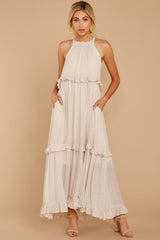 2 Inspire Chic Sand Maxi Dress at reddressboutique.com