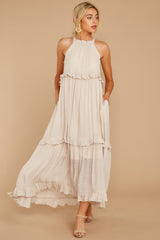 6 Inspire Chic Sand Maxi Dress at reddressboutique.com