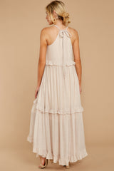 8 Inspire Chic Sand Maxi Dress at reddressboutique.com