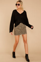 5 Beck And Call Leopard Print Denim Skirt at reddress.com