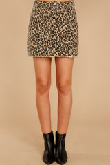 3 Beck And Call Leopard Print Denim Skirt at reddressboutique.com
