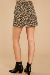 4 Beck And Call Leopard Print Denim Skirt at reddress.com