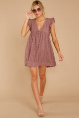 1 Keep A Secret Mauve Romper Dress at reddress.com