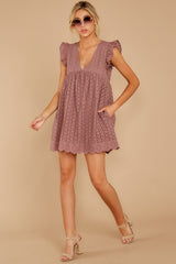 3 Keep A Secret Mauve Romper Dress at reddress.com