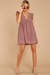 4 Keep A Secret Mauve Romper Dress at reddress.com