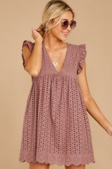 5 Keep A Secret Mauve Romper Dress at reddress.com