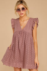 7 Keep A Secret Mauve Romper Dress at reddress.com