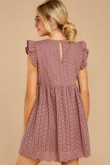 8 Keep A Secret Mauve Romper Dress at reddress.com