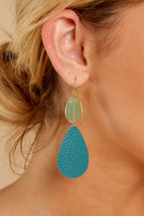 1 Drops Of Color Turquoise Earrings at reddressboutique.com