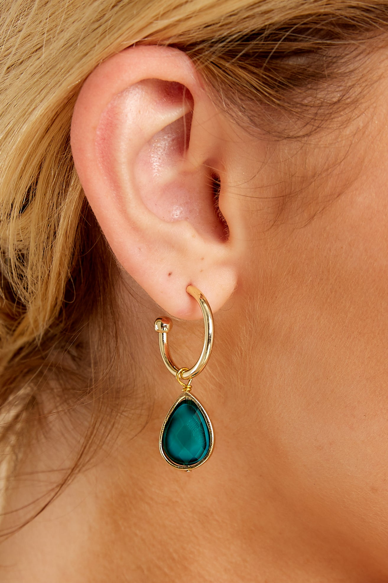 1 Drop Of Truth Blue Earrings at reddressboutique.com