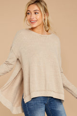 8 The Simply Taupe Triblend Vacay Pullover at reddress.com
