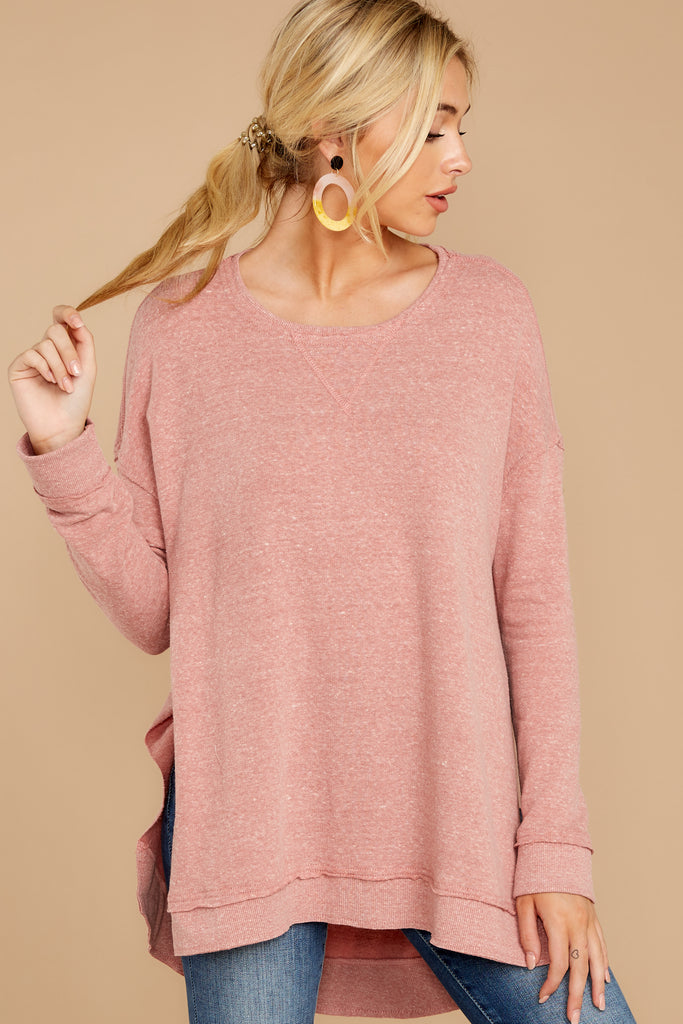 1 Say Anything Brick Red Turtleneck Sweater at reddress.com