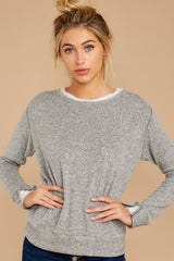 5 Casually Planning Heather Grey Top at reddress.com