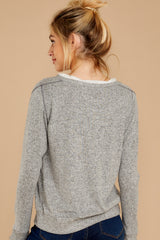 8 Casually Planning Heather Grey Top at reddress.com