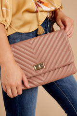 4 In Line With Style Mauve Clutch at reddressboutique.com