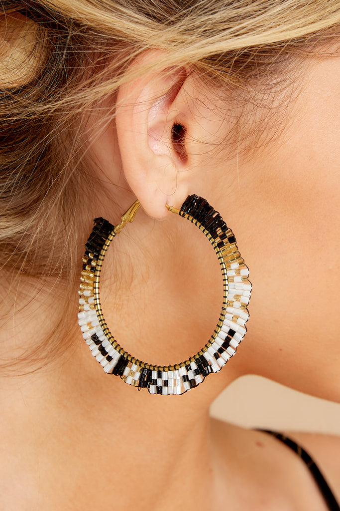 1 The Way I Do Black Statement Earrings at reddressboutique.com