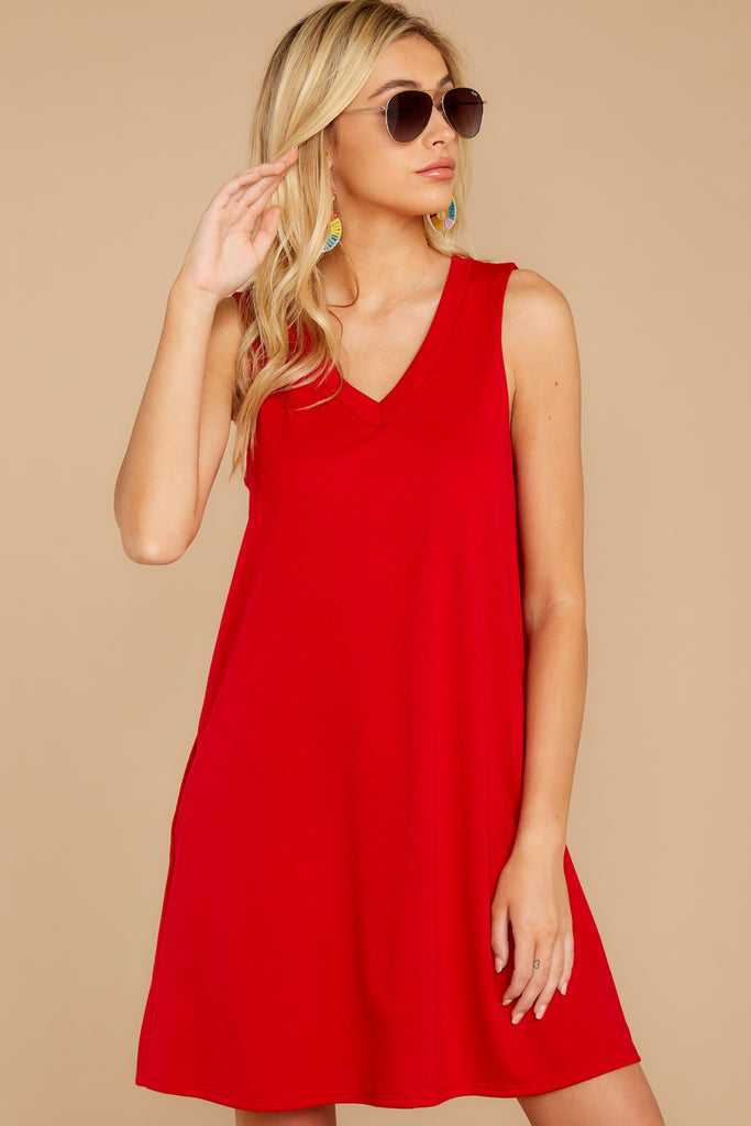 Burnin' Up Red High-Low Dress