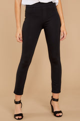 2 Black 4-Pocket Skinny Ponte Pants at reddressboutique.com